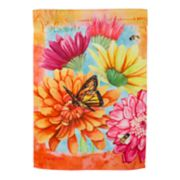 """Evergreen 29"""" x 43"""" Colorful Flowers Indoor / Outdoor House Flag"""
