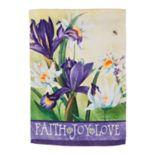 """Evergreen """"Faith"""" Indoor / Outdoor House Flag"""