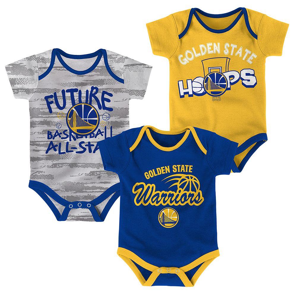 fbeeafb3613 Baby Golden State Warriors 3-Pack Bodysuit Set