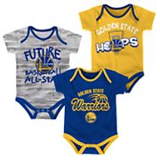Baby Golden State Warriors 3-Pack Bodysuit Set