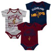 Baby Cleveland Cavaliers 3-Pack Bodysuit Set