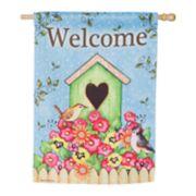 """Evergreen 29"""" x 43"""" """"Welcome"""" Indoor / Outdoor House Flag"""