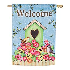 Evergreen 29' x 43' 'Welcome' Indoor / Outdoor House Flag