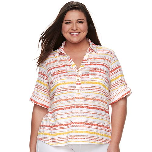 Plus Size Cathy Daniels Stripe Top