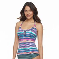 Women's Apt. 9® Strappy Printed Halterkini Top