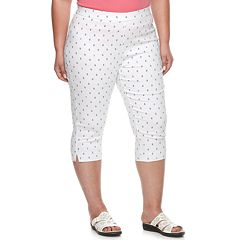 Plus Size Cathy Daniels Anchor Pull-On Capris