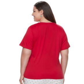 Plus Size Cathy Daniels Stars & Stripes Top