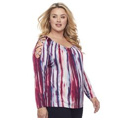 Plus Size Jennifer Lopez Strappy Cutout Tee