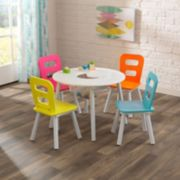 KidKraft Round Storage Table & 4 Chair Set