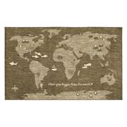 Mohawk® Home Aurora Bigger Love Wear-Dated World Map Rug