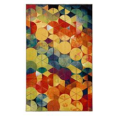 Mohawk® Home Aurora Full Circle Wear-Dated Geometric Rug