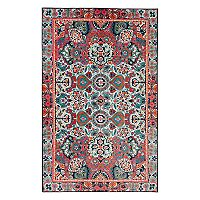 Mohawk® Home Aurora Potenza Wear-Dated Framed Floral Rug