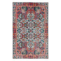 Mohawk® Home Aurora Potenza Wear-Dated Framed Floral Rug