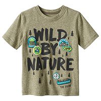 Baby Boy Jumping Beans® Short Sleeve Embroidered Patch Snow Nep Graphic Tee