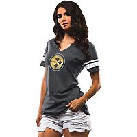 Women's Majestic Pittsburgh Steelers Go For Two Tee
