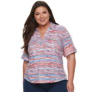 Plus Size Cathy Daniels Print Top