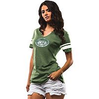 Women's Majestic New York Jets Go For Two Tee