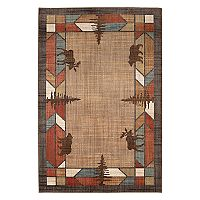 Mohawk® Home Destinations Butte EverStrand Framed Lodge Rug