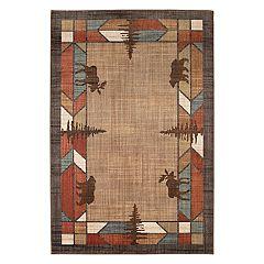 Mohawk® Home Destinations Butte EverStrand Framed Lodge Rug