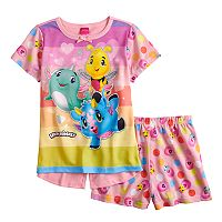Girls 4-12 Hatchimals Split Back Top & Shorts Pajama Set