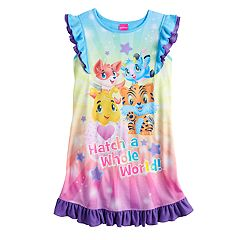 Girls 4-12 Hatchimals 'Hatch A Whole World' Ruffled Dorm Nightgown
