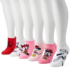 Disney's Minnie Mouse Women's 6-Pack No-Show Socks
