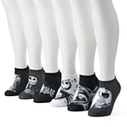 Disney's Nightmare Before Christmas Women's 6 pkNo-Show Socks
