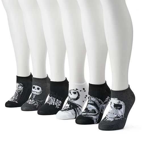 disneys nightmare before christmas womens 6 pk no show socks