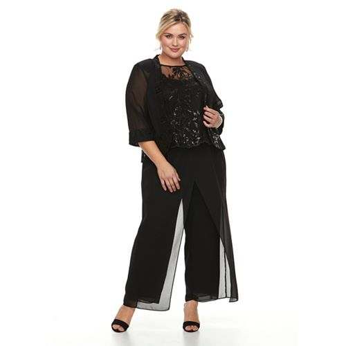 f751be350f1 Plus Size Le Bos 3-Piece Pant Set