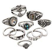 Mudd® Antiqued Ring Set