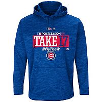 Men's Majestic Chicago Cubs 2017 MLB Playoffs Participant Hoodie