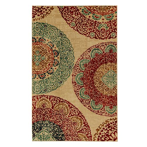 Mohawk® Home Strata Lacey Medallions Wear-Dated Rug