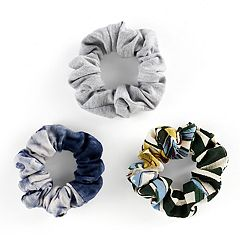 Mudd® Printed & Heathered Scrunchie Hair Tie Set