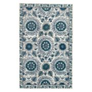 Mohawk® Home Strata Suzani Sophisticate Wear-Dated Framed Floral Rug