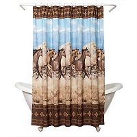 Zenna Home Running Free Shower Curtain
