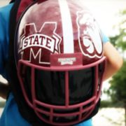 Mississippi State Bulldogs Helmet Hardshell Backpack