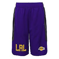 Boys 8-20 Los Angeles Lakers Jump Ball Shorts