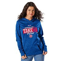 Women's Majestic Chicago Cubs 2017 MLB Playoffs Participant Hoodie