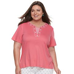 Plus Size Cathy Daniels Stars & Stripes Top
