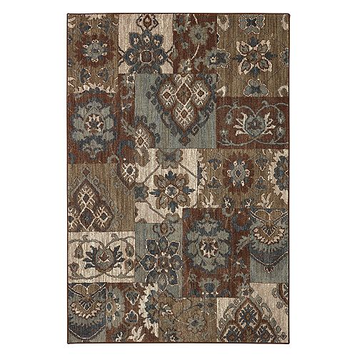 Mohawk® Home Studio Nuka EverStrand Floral Block Rug