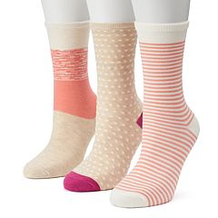 Women's SONOMA Goods for Life™ 3-pk. Color Block Dots Crew Socks