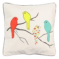Spencer Home Decor Four Birdies Throw Pillow
