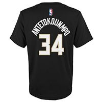 Boys 8-20 Milwaukee Bucks Giannis Antetokounmpo Player Name & Number Replica Tee