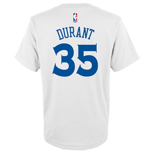 aa4981b7d Boys 8-20 Golden State Warriors Kevin Durant Player Name   Number Replica  Tee