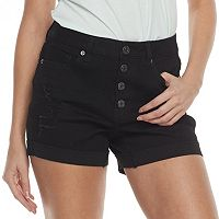 Juniors' Mudd® High Rise Button Fly Shorts