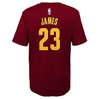 Boys 8-20 Cleveland Cavaliers LeBron James Player Name & Number Replica Tee