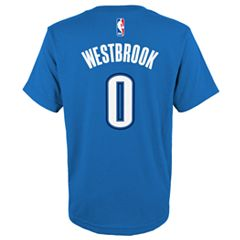 Boys 8-20 Oklahoma City Thunder Russell Westbrook Player Name & Number Replica Tee
