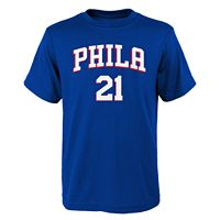 Boys 8-20 Philadelphia 76ers Joel Embiid Player Name & Number Replica Tee