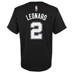 Boys 8-20 San Antonio Spurs Kawhi Leonard Player Name & Number Replica Tee