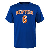 Boys 8-20 New York Knicks Kristaps Porzingis Player Name & Number Replica Tee